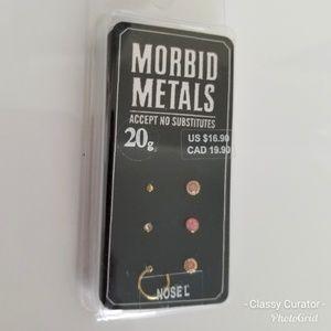 NIB Morbid Metals pink and gold nose jewelry